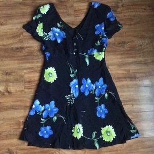 Dresses & Skirts - Floral LBD Black Dress